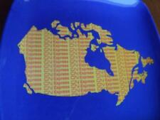 CN EXPRESS TRAIN RAILROAD RAILWAY MAP CANADA VINTAGE COIN TIP CHANGE DISH TRAY