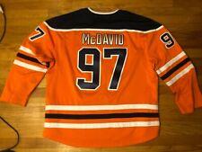 Stitched Fanatics Connor McDavid #97 Edmonton Oilers Jersey Mens Xxl 2Xl Orange