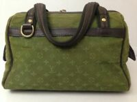 Louis Vuitton handbag Monogram Mini Lin Josephine PM Khaki Hand Bag