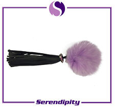 Purple Real Fox Fur Ball Pendant Accessories Bag Key Chain Ring Charm Pom Gift