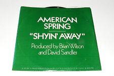 Vintage 45Rpm Record American Spring Shyin Away Brian Wilson Promo/Ps Beach Boys