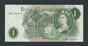BANK OF ENGLAND  QEII  Fforde  £1  1967  B301  Uncirculated  Banknotes