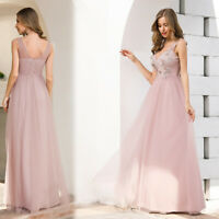 Ever-Pretty Women's A-Line Floral Appliques Wedding Party Bridesmaid Prom Dress