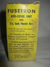 """Fusetron Type SSU Box-Cover Unit for 2-1/4"""" Handybox One Fuseholder 1 Switch"""
