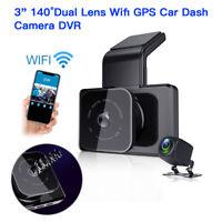 3 Inch 140FOV Dual Lens Wifi GPS Car Dash Cam Recorder G-Sensor Parking Monitor