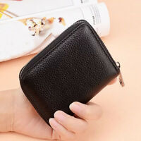 Wallet RFID Genuine Cow Leather Card Holder Purse with 20 Card Slots