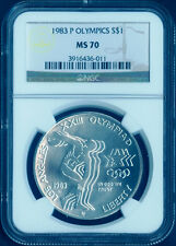 1983 P Olympic Commemorative silver dollar Coin $1 NGC MS 70