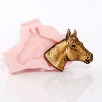 Silicone Mold Horse Head Food Safe Fondant Jewelry Resin Polymer Clay Mold (968)