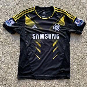 Fernando Torres Chelsea FC Jersey Third Away Kit Adidas Black And Yellow Medium