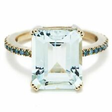 14k Yellow Gold Emerald Cut CZ 2ct Engagement Ring