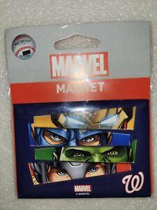 """NIP Wincraft Marvel Avengers Washington Nationals MLB Fridge Magnet 2.5"""" x 3.5"""""""