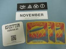 Led Zeppelin mothership sticker & celebration day 4x coaster set New Old Stock