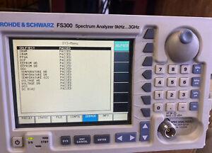 Rohde & Schwarz FS300 Spectrum Analyzer - 9kHz to 3GHz