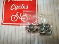 Set of 4 Steel Mudguard Draw Bolts / Nuts for Bicycle Mudguards