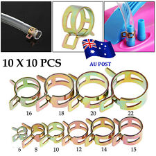 100Pcs 6-22mm Spring Clip Fuel Line Hose Water Pipe Air Tube Clamps Fastener  BO