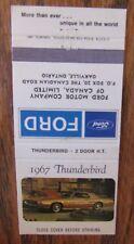 1967 FORD THUNDERBIRD CAR DEALER: OAKVILLE, ONTARIO -JL9