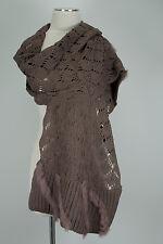Edler Strick Schal  Taupe  scarf Kaninchen Fell Rabbit elegant Knit