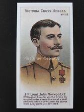 No.118 2nd LIEUT JOHN NORWOOD Victoria Cross Heroes 101-125 REPRO Taddy 1904