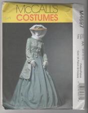 McCall's Sewing Pattern M4697 Miss Civil War Coat Skirt & Shawl Costume Sz 6-12