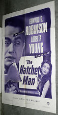 THE HATCHET MAN original one sheet movie poster EDWARD G. ROBINSON/LORETTA YOUNG