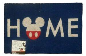 Disney Mickey Mouse Home Doormat Door Mat Rug 18×28 Red White Blue Patriotic NEW