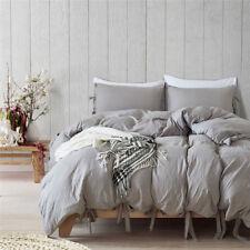 3Pcs Elegant Egyptian Quilt Duvet Cover Bedding Set Twin Queen King 1000/1400TC