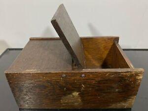 ANTIQUE Wooden Hinged Ballot Box ?
