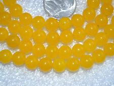 8 mm 108 Yellow Jade Handmade Mala Beads Necklace - Karma, Nirvana, Meditatio