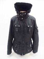 Bogner Black Hooded Zipper Front Winter Hooded Ski Jacket Coat Size 10