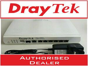 DrayTek Vigor 2860 VDSL/ADSL2+ 3/4G Wired Router Firewall VPN + PSU VGC