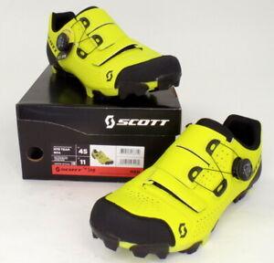 Scott MTB Team Boa Mountain Bike Shoes Yellow Men's Size 11 US / 45 EU