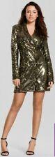 Michelle Keegan Sequin Tux Dress, Gold, Size 10, BNWT