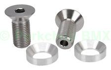 BMX crank HOLLOW bolts w/ washers fits Profile 19mm GDH spindle PAIR TITANIUM