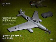 Heinkel He 380 V1 (mit HeS8)        1/72 Bird Models Resinbausatz / resin kit