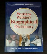 Merriam-Webster's Biographical Dictionary hardbound