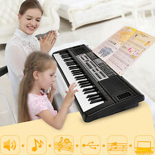 61 Key Digital Electronic Music Keyboard & Microphones Electric LEDs Piano Organ