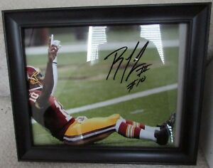 NFL Washington Redskins RG3 Robert Griffin III  #10 Signed Autograph Photo Frame