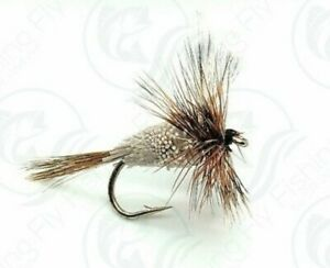 3 ADAMS IRRESISTIBLE Dry Flies MAYFLY Caddis Trout FLY Fishing Size 10,12,14