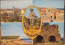 Irish Postcard Greetings from GALWAY Multiview Ireland Padraic O'Conaire Dollard