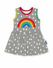 SS20 Toby Tiger Raindrop with Rainbow Applique Dress Organic Cotton
