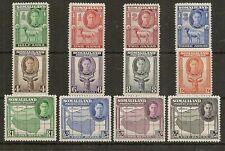 SOMALILAND 1942 KGVI TO 5R SG105/16 MNH