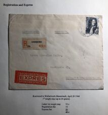 1944 Roermond Netherlands Express Mail Censored Cover To Wallachisch Bohemia
