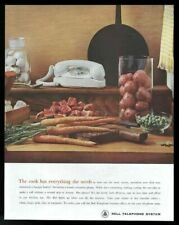 1961 Bell Telephone white Princess phone color photo vintage print ad
