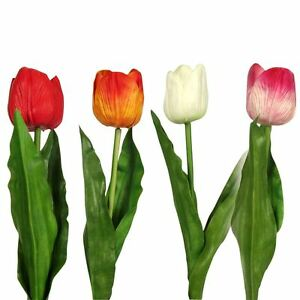 Premium Tulip 'Real Touch' Single - Artificial Latex Flowers Stems