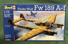 Revell Focke Wulf Fw189 A-1 1/72 #04294 Model Kit WWII