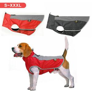 Reflective Waterproof Dog Jacket Coats Winter Warm Pet Puppy Clothes Apparel UK