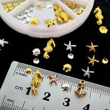 3D Cute Nail Art Decoration Ocean Anchor Alloy Jewelry Glitter Rhinestones TOP