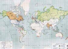Echte 158 Jahre alte Landkarte der CHRISTEN Antique Christianity World Map 1860