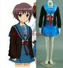 anime The Melancholy of Haruhi Suzumiya Nagato Yuki Ⅰ1 cosplay costume any size