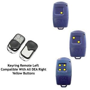 Automatic Gate remote control copies DEA 433-1 433-2 433-4 yellow button